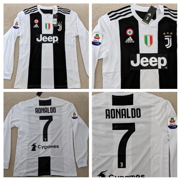 buy popular 2def4 9e2e3 Cristiano Ronaldo #7Juventus Long Sleeve Jersey NWT